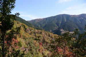 伊勢南街道(小峠〜杉谷登山口)からの風景