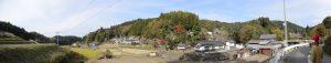 宇賀神社(宇陀市菟田野宇賀志)付近のパノラマ