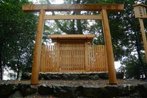 雨の打懸神社(豐受大神宮 末社)