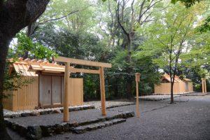雨の草奈伎神社・大間国生神社(豊受大神宮 摂社)