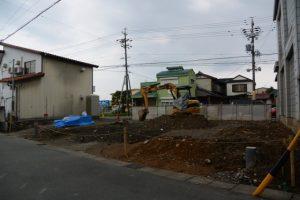 建物が解体されて更地に(元伊勢船江郵便局)