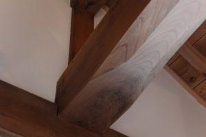 内蔵資料館の二階、大般若経が納められた木箱が置かれていた場所(伊勢河崎商人館)