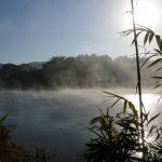 川霧が湧き立つ宮川