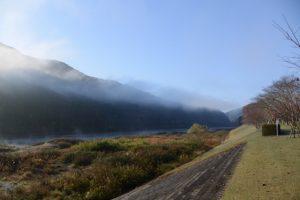 宮リバー度会パークから眺めた川霧、朝霧