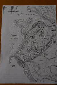 立岡城跡(配置図)