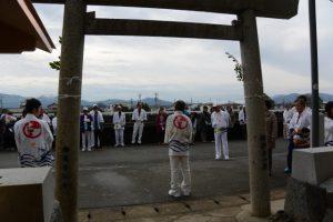 白石奉献、牟山中臣神社(伊勢市田尻町)