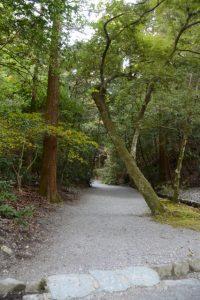 下御井神社への参道、外宮(豊受大神宮)