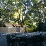 御遷座の後、雨儀廊が取り外された大間国生神社(豊受大神宮 摂社)