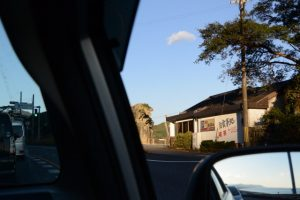 通りすがりに垣間見た獅子岩(熊野市井戸町)