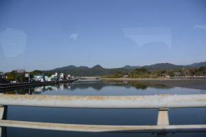 今町橋(善田川)、今町交差点付近(宮崎県串間市)