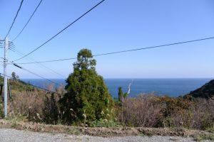 鵜戸山別当墓地(鵜戸神宮)付近から望む日向灘