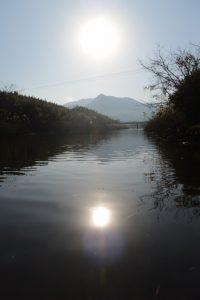 唐仁第4樋管付近から遠望した権現山