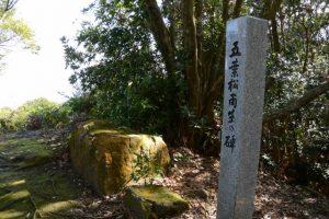 五葉松再生の碑(権現山々頂)
