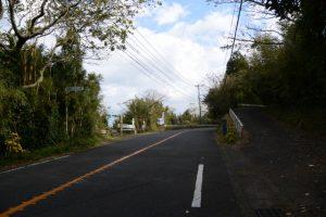 国道448号との合流、林道赤迫柳井谷線