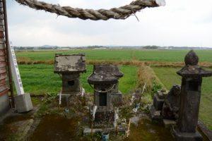 川西の田の神(東串良町)
