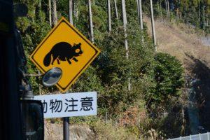 動物注意の注意標識