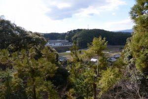 辰水神社からの風景(津市美里町家所)