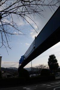 進修小学校付近の歩道橋(国道23号)