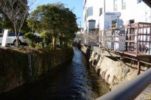 みさかえばしから望む豊川の上流方向