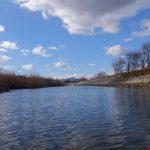 桜の渡し場跡付近、下流側(宮川)