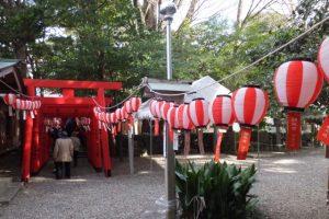初稲荷祭の準備(須原稲荷神社)