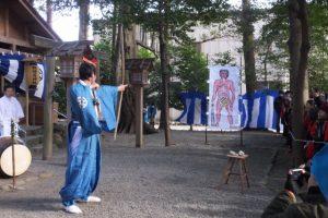 楠部町萬歳楽 鬼打ち神事(櫲樟尾神社)