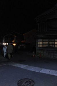 (3)四ッ谷稲荷へ(宇治青年団による寒参り)