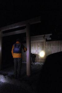 (4)津長神社(宇治青年団による寒参り)
