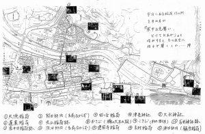 宇治青年団による寒参りの巡拝地図