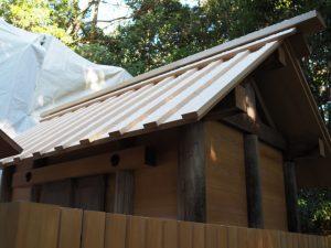 大修繕のために建てられた仮殿、蚊野神社(皇大神宮 摂社)