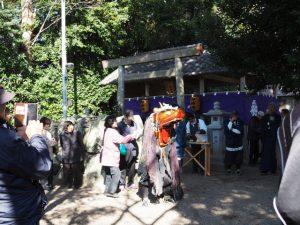 八柱神社での官舎神社神宝神事(伊勢市小俣町元町)