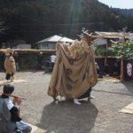 一之瀬神社獅子神楽、南中村公民館にて(度会町南中村)