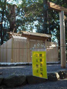 御造替が終了した小俣神社(豊受大神宮 摂社)
