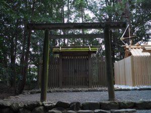 近々に役目を終える現在の殿舎、小俣神社(豊受大神宮 摂社)