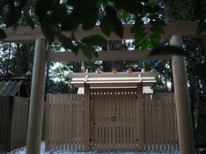 御造替された小俣神社(豊受大神宮 摂社)