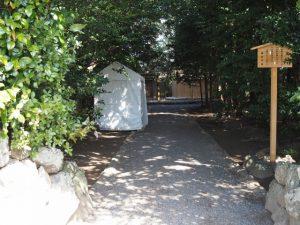御遷座を終えた小俣神社(豊受大神宮 摂社)