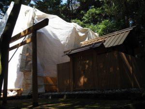 大修繕が進められる蚊野神社(皇大神宮 摂社)