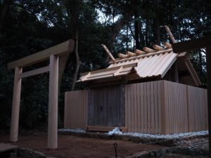 大修繕を終えた殿舎、蚊野神社(皇大神宮 摂社)