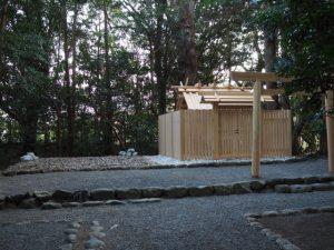 旧殿舎が姿を消していた小俣神社(豊受大神宮 摂社)