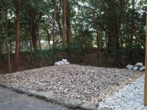 旧殿舎が姿を消した古殿地、小俣神社(豊受大神宮 摂社)