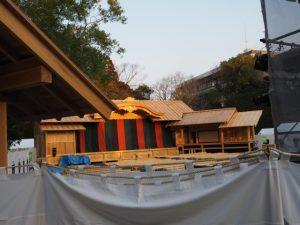 にっぽん文楽の特設舞台(外宮第二駐車場)