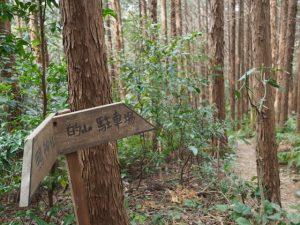 鴨神社〜的山(公園)駐車場