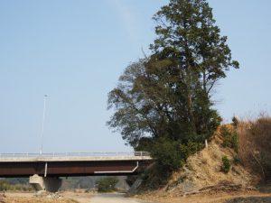 電柱看板のフェンスを見つけた場所、ふるさと橋(五十鈴川派川)