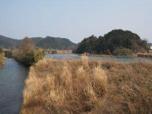 五十鈴川派川、ふるさと橋付近