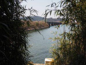 五十鈴川に架かるJR参宮線の鉄橋