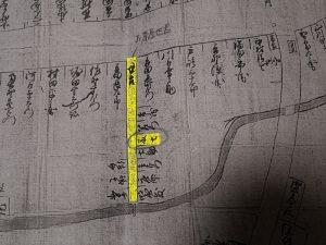 籐七と世古(河崎南町絵図面)