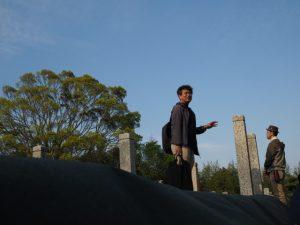 神苑会の創設者 太田小三郎の墓所付近(久世戸墓地)