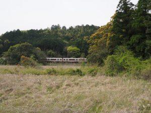 江神社(皇大神宮 摂社)付近から望むJR参宮線