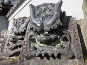 元禄七年の鬼瓦、丹生山 西導寺(多気町丹生)