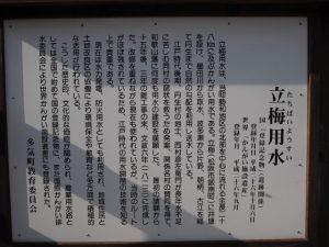 立梅用水(たちばいようすい)の説明板